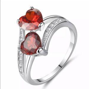 Heart Romantic Gemstone 925 Silver Ring